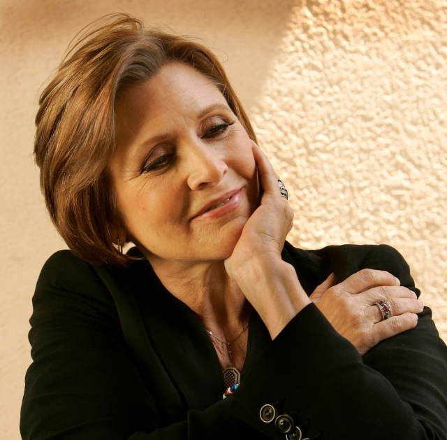 """Seib, Al –– – 124142.CA.0515.fisher.ALS Century City, CA. Actress & author Carrie Fisher will be one of the judges on Fox's reality competition """"On the Lot"""" which sought submissions from aspiring filmmakers, selecting 50 to appear on the show. These semi–finalists will discover the magic of moviemaking when they are brought to Los Angeles to visit a real–life film set for the first time and must endure a rigorous Hollywood Boot Camp, says the Fox website. Carrie Fisher, one of the judges talks about the movie biz, and, perhaps, the show for a sunday Q&A at the Intercontinental Hotel in Century City."""